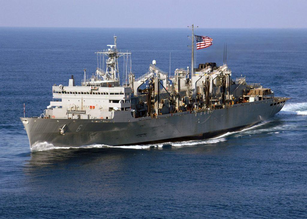 USNS Supply at sea